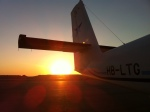 Plane with sunrise to inspire change