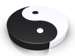 Yin and Yang symbol, where world, body and mind are viewed as one unity to illustrate monism as a school of thought